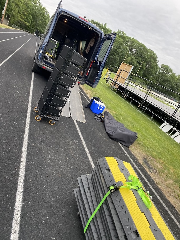 RCF Line Array Rentals in Maine